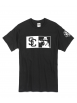 "tee-shirt ""New SC"" noir logo blanc"