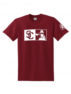 "Tee Shirt ""New SC Burgundy logo Blanc"