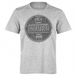 """tee shirt le gouffre """"plaque"""" gris"""