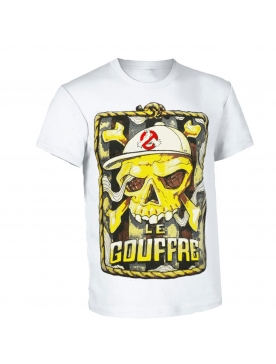 "tee shirt le gouffre ""pirate"" blanc"