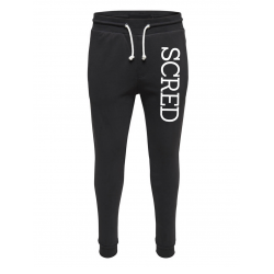 "Pantalon de jogging noir ajusté ""Scred line up"""