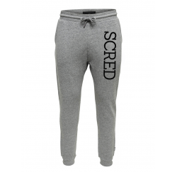 "Pantalon de jogging gris ajusté ""Scred Line up"""