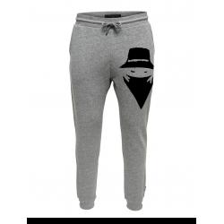 Pantalon de jogging gris ajusté Visage