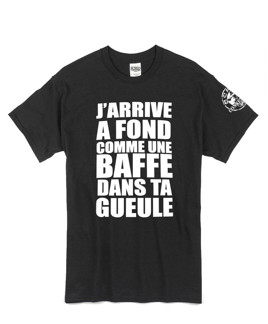 """tee-shirt """"Jarrive"""" noir logo blanc"""