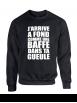 "Sweat Col Rond ""Jarrive"" Noir Logo Blanc"