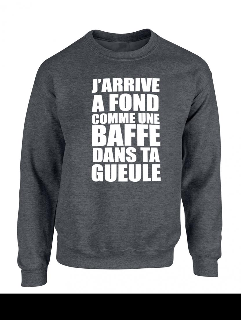 "Sweat ""Jarrive"" Gris foncé logo blanc"