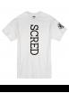 "Tee Shirt ""Line Up"" blanc logo Noir"