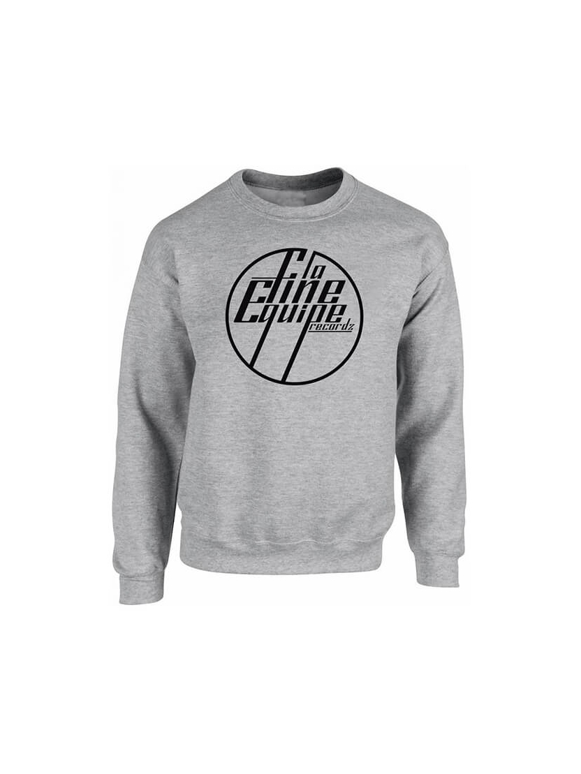 "Sweat ""La Fine Equipe"" Gris logo Noir"
