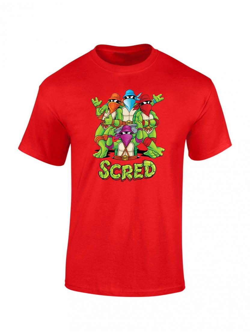 T shirt enfant Scred Turtles Rouge