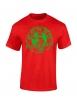 "Tee shirt enfant ""classico"" rouge logo vert"