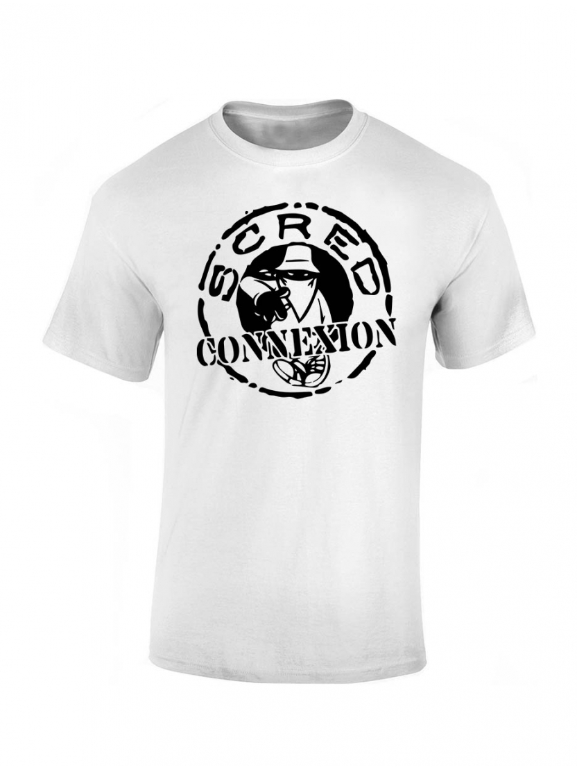 "Tee-shirt enfant ""classico"" blanc logo noir"