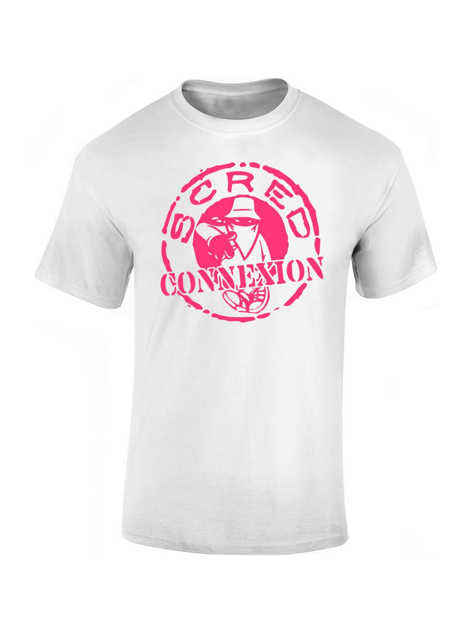 "Tee shirt enfant ""classico"" blanc logo rose"