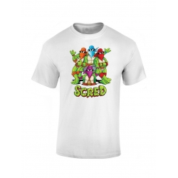 T shirt enfant Scred Turtles blanc