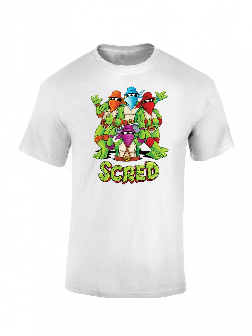 T shirt enfant Scred Turtles blanc