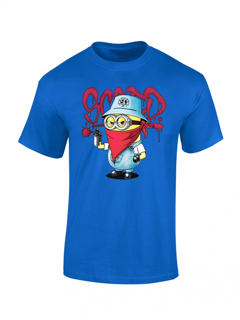 "tee-shirt enfant ""Mini Scred"" bleu"