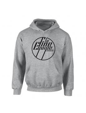 """Sweat Capuche """"La Fine Equipe"""" Gris logo Noir"""