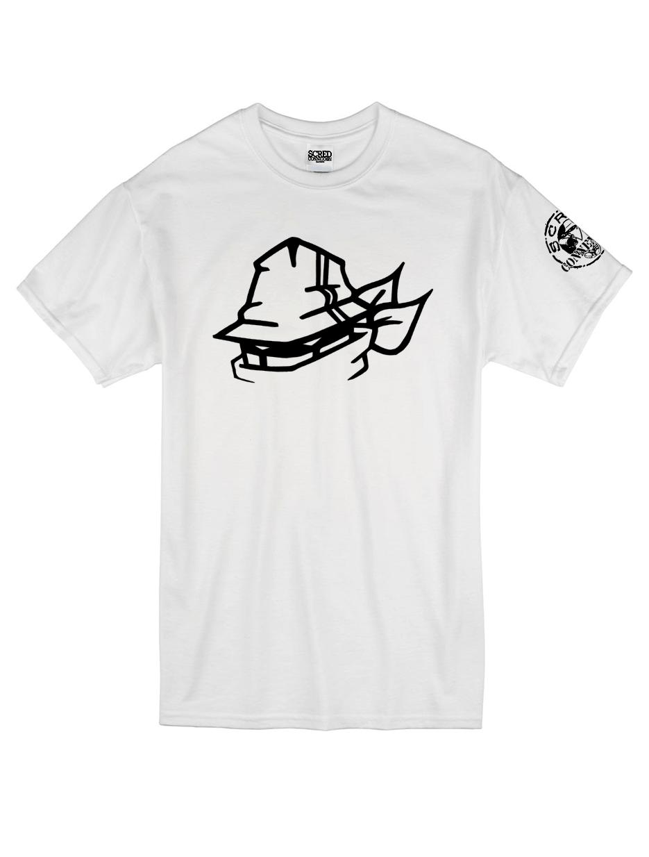 "T-Shirt Logo ""Tête Marche en Scred"" Blanc"