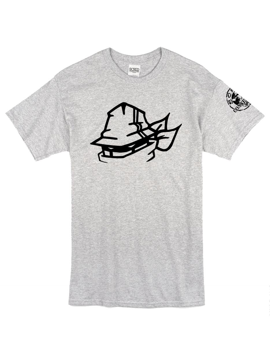 """T-Shirt Logo """"Tête Marche en Scred"""" gris"""