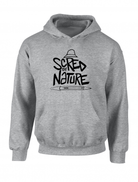 "Sweat Capuche ""Scred by Nature"" Gris"