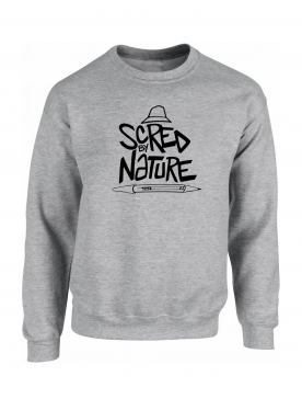 "Sweat ""Scred by Nature"" Gris"