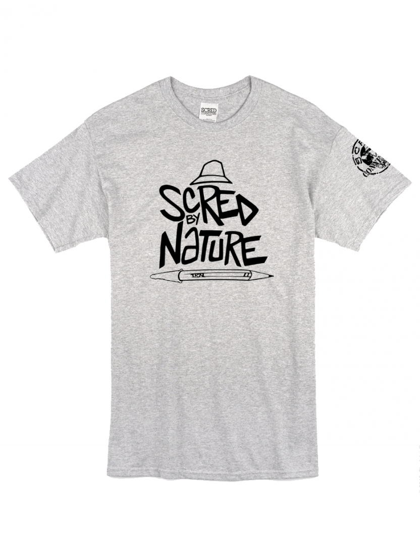 "Tee Shirt ""Scred by Nature"" gris"