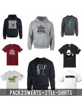 PACK 2 TEE-SHIRTS + 2 SWEATS + 1 CD
