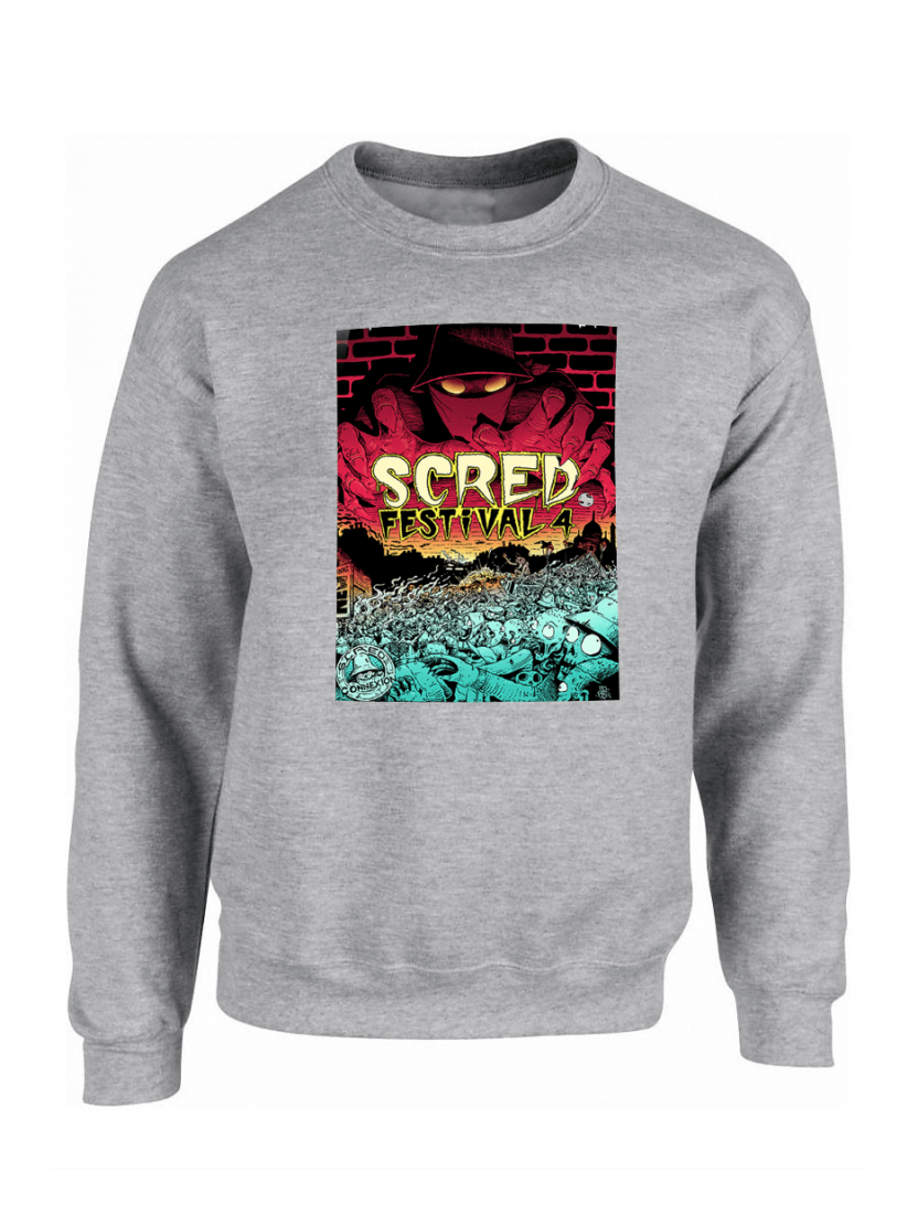 "Sweat ""Scred festival 4"" Gris"