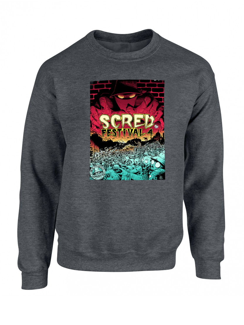 "Sweat ""Scred festival 4"" Gris foncé"