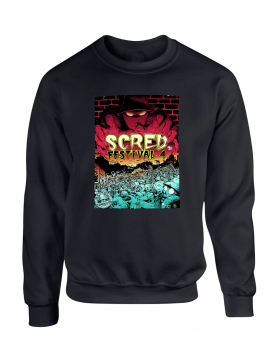 "Sweat Col Rond ""Scred festival 4"" Noir"