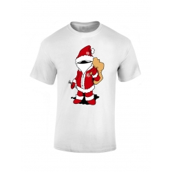 T shirt enfant Scred Noel blanc