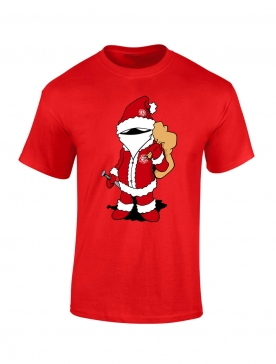 T shirt enfant Scred Noel Rouge