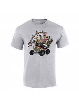 "tee-shirt ""Yoshi Caresse Auditive"" gris"