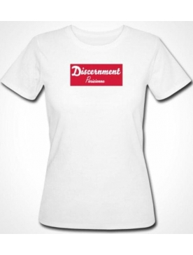 "Tee-shirt Femme ""Discernment"" Blanc Coton Bio"
