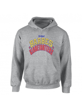 "sweat capuche ""Barbes Globetrotters"" Gris"