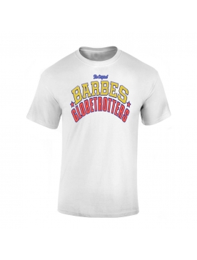 "tee-shirt ""Barbes Globetrotters"" Blanc"