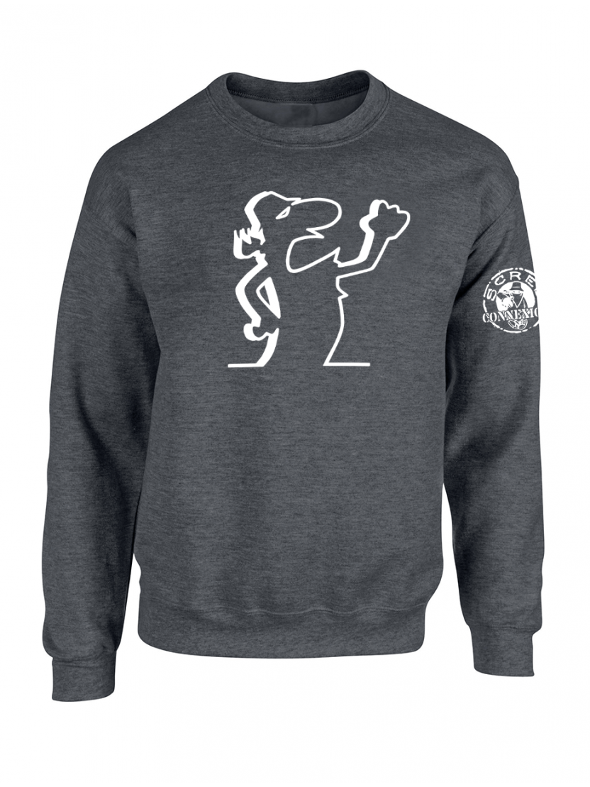 "Sweat Col Rond ""Scred Linea"" Gris"