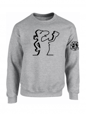 """Sweat Col Rond """"Scred Linea"""" Gris"""