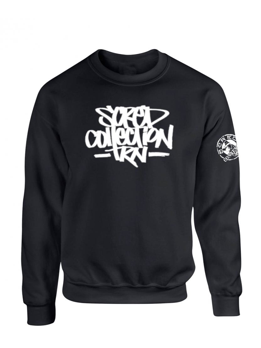 """Sweat Col Rond """"TRNCollection"""" Noir"""