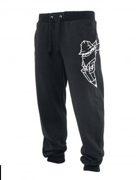 Pantalon de jogging noir Coup de crayon