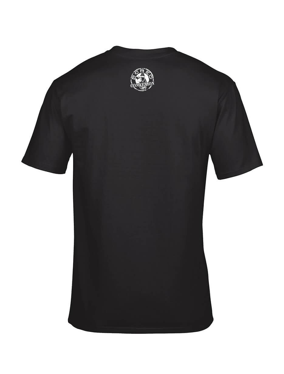 "tee-shirt ""Line Up"" noir logo blanc"