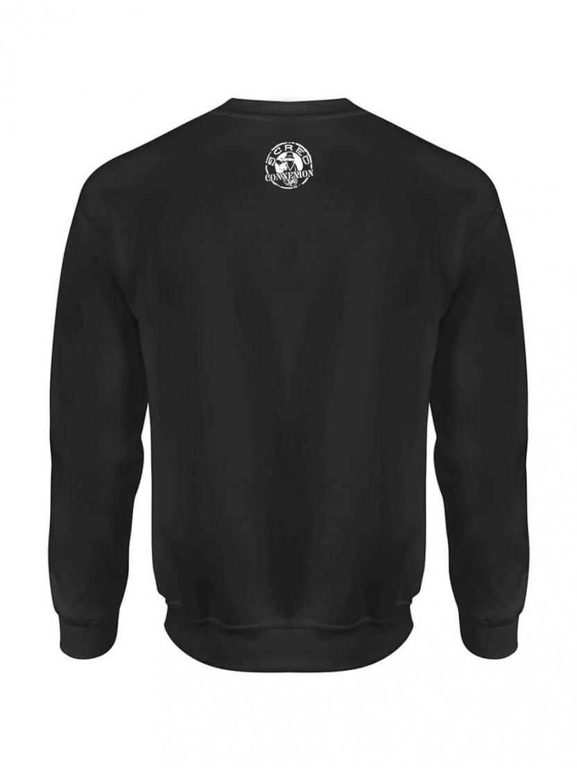 "Sweat Col Rond ""Line Up"" Noir Logo Blanc"