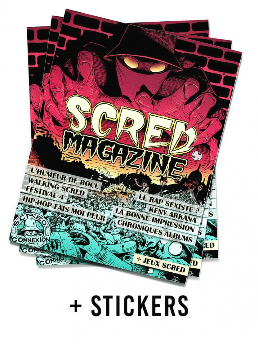 Scred Magazine 2019 + 10 auctocollants Festival