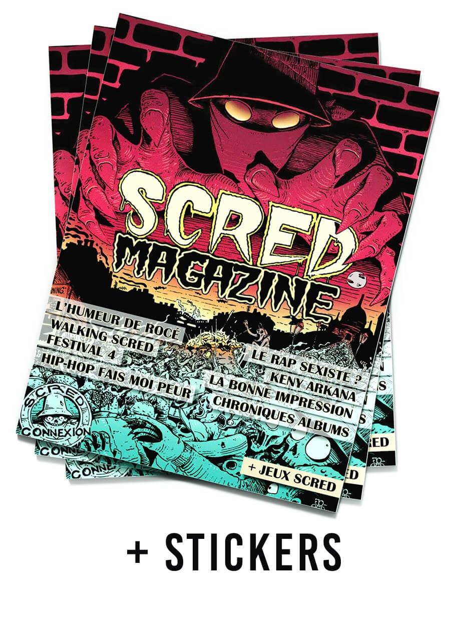Scred Magazine 2019 + 10 auctocollants Festival