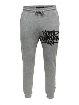 Pantalon de jogging gris ajusté Coup de crayon