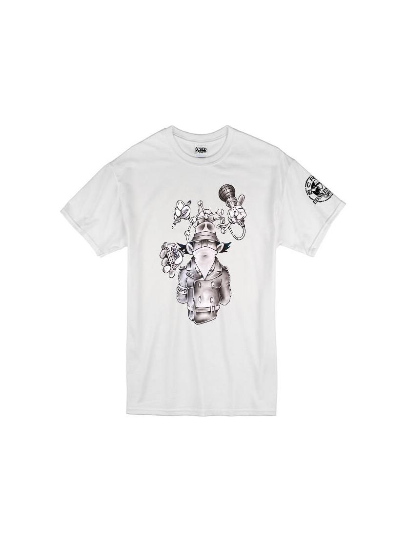 """tee-shirt """"Inspecteur Gadget"""" Blanc"""