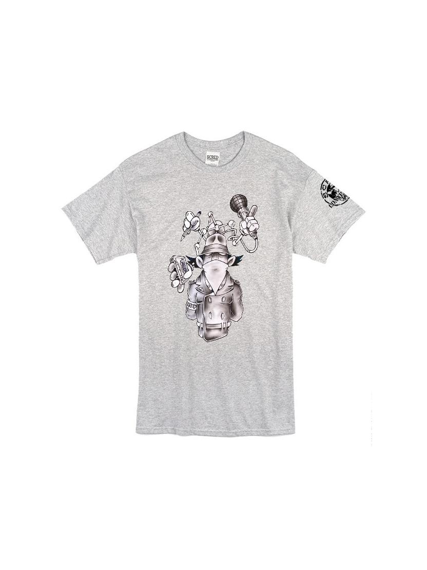 """Tee Shirt """"Inspecteur Gadget"""" gris"""