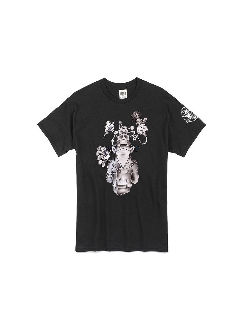 """tee-shirt """"Inspecteur Gadget"""" noir"""