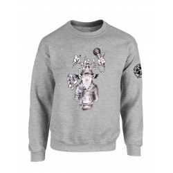 "Sweat ""Inspecteur Gars Scred"" Gris"