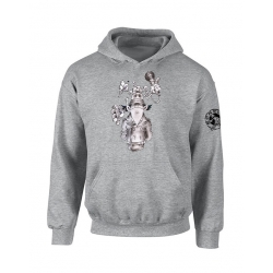 "Sweat Capuche ""Inspecteur Gars Scred"" Gris"