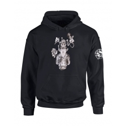 "Sweat Capuche ""Inspecteur Gars Scred"" Noir"